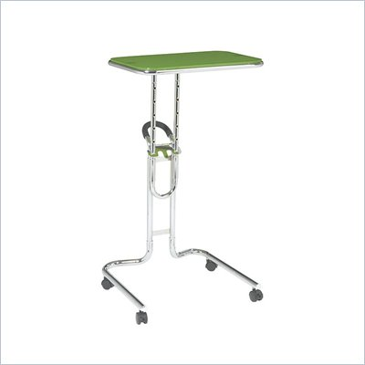 Office Star Lucent Laptop Stand in Green Glass