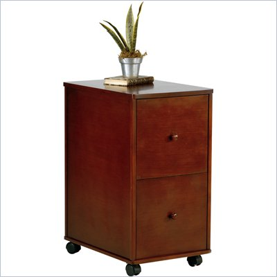 Office Star Madison 2 Drawer Vertical Wood File Cabinet in Walnut