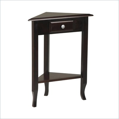 Office Star Merlot Corner Table