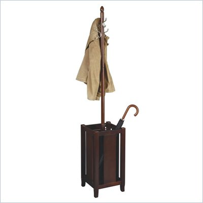 Office Star Merlot Coat Rack in Merlot 