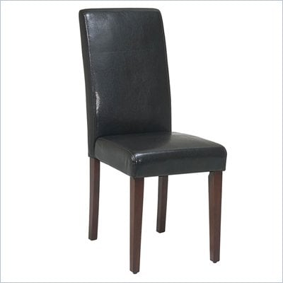 Office Star Metro Parsons Side Chair in Espresso
