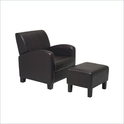 Office Star Metro Chair with Ottoman