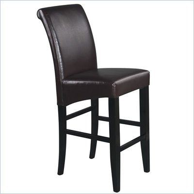 Office Star Metro 30&quot; Parsons Barstool in Espresso Bonded Leather