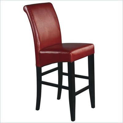 "Office Star Metro 30"" Parsons Barstool in Crimson Red Bonded Leather"