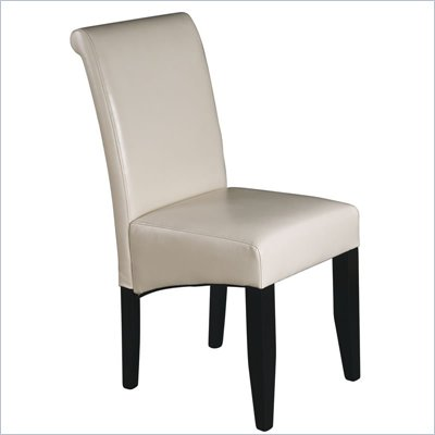 Office Star Metro Parsons Dining Chair in Cream Bonded Leather