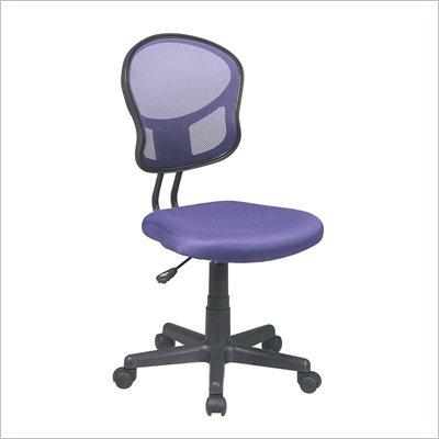 Office Star OSP Designs Seating Mesh Task Chair in Purple