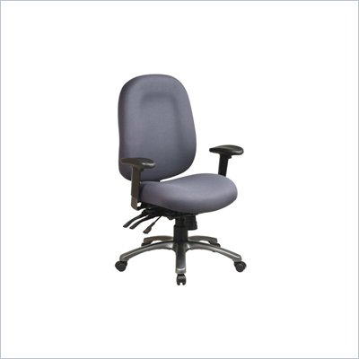 Office Star Ergonomic High Back Office Chair with Multi Function Control and Titanium Finish Accents