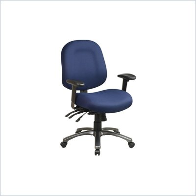 Office Star Ergonomic Mid Back Office Chair with Multi Function Control and Titanium Finish Accents