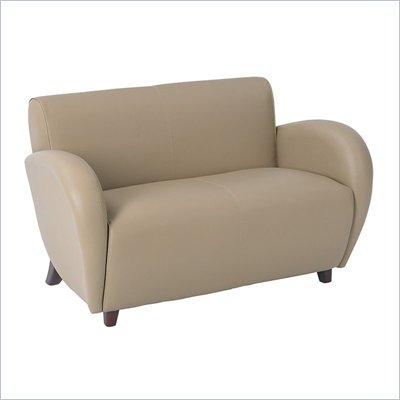 Office Star Furniture - Eleganza - Taupe Eco Leather Love Seat