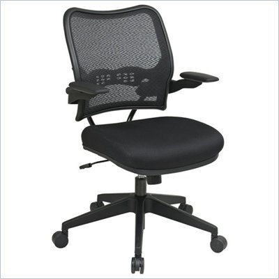 Office Star 13 Chair w/Air Grid Back &amp; Mesh Seat in Black
