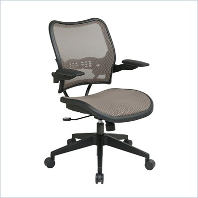 Office Star 13 Latte/Black Air Grid Seat &amp; Back Chair Cantilever Arms