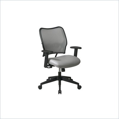 "Office Star SPACE 40"" Deluxe VeraFlex Office Chair with Fabric Seat (Shadow)"