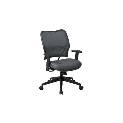 Office Star SPACE 40&quot; Deluxe VeraFlex Office Chair with Fabric Seat (Charcoal)