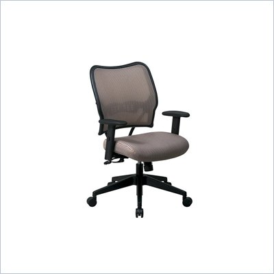 Office Star SPACE 40&quot; Deluxe VeraFlex Office Chair with Fabric Seat (Latte)