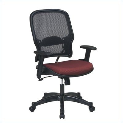 Office Star 15 Air Grid Back Fabric Seat Manager's Chair in Rosewood
