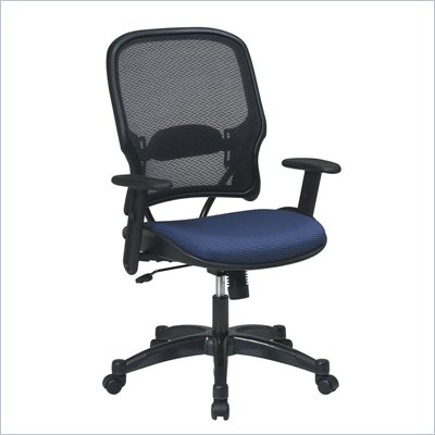 Office Star 15 Air Grid Back Fabric Seat Manager's Chair in Indigo