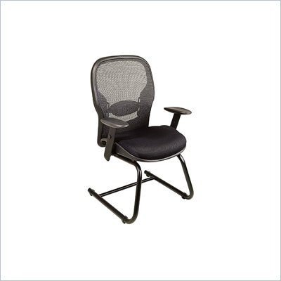 Office Star SPACE Matrex Back Cantilever Base Managers Guest Chair with Mesh Seat in Black