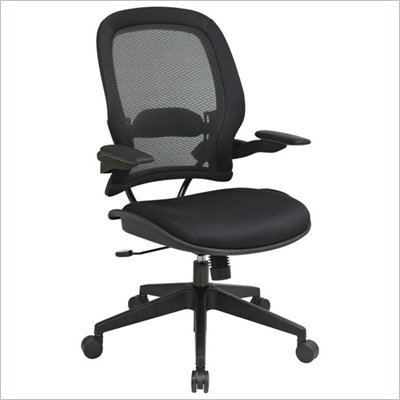Office Star 335 Air Grid Back Managers Chair w/ Mesh Seat in Black