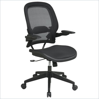 Office Star 335 Air Grid Back Managers Chair w/ Air Grid Seat in Black