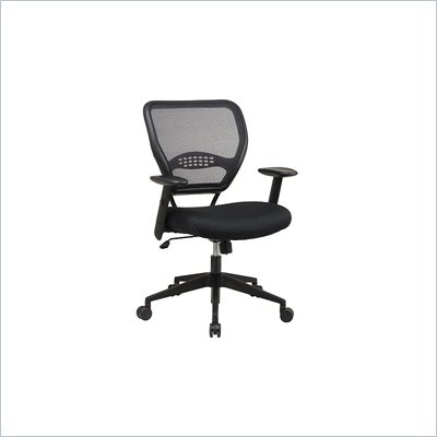 Office Star SPACE Collection Matrex Mesh Metal Chair with Arms