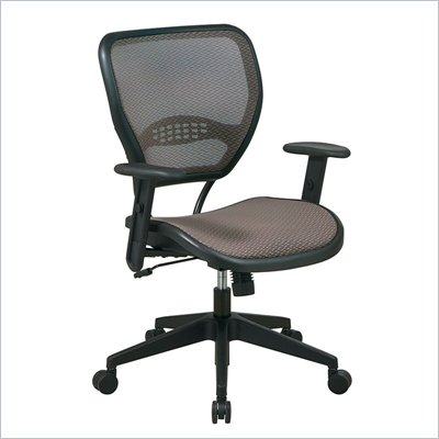 Office Star SPACE Collection: Air Grid Mesh Back and Seat Deluxe Task Chair