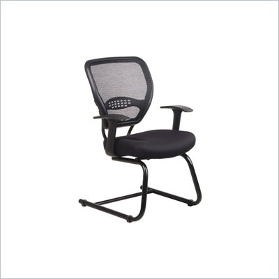 Office Star SPACE Collection: Air Grid Back Guest Chair with Fabric Seat and Cantilever Base