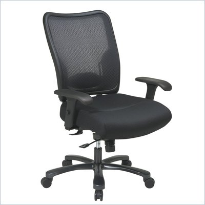 Office Star 75 Big and Tall Double Air Grid Back Ergonomic Chair