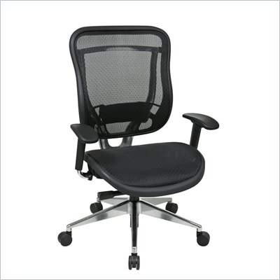 Office Star 818A High Back Chair w/ Seat in Black/Gunmetal