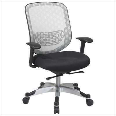 Office Star 829 White DuraGrid Back w/ Black Mesh Seat Chair