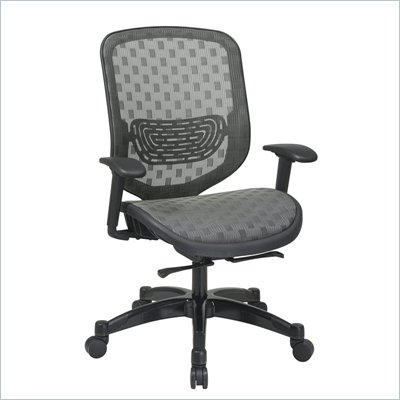 Office Star 829 Charcoal DuraGrid Back w/ Custom Fabric Seat Chair