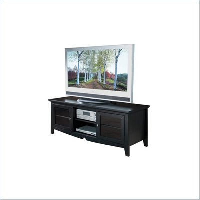 Office Star 60 Inch Plasma LCD Black TV Stand