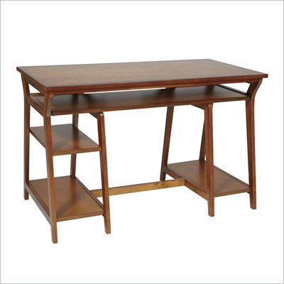 Office Star Double Pedestal Trestle Desk