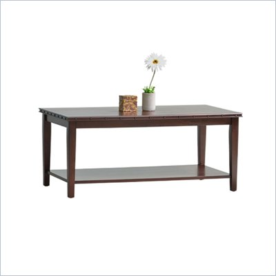 Office Star Tucson Coffee Table in Dark Espresso