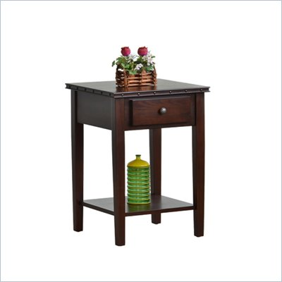 Office Star Tucson Accent Table in Dark Espresso