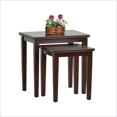 Office Star Tucson 2-Piece Nesting Table in Dark Espresso