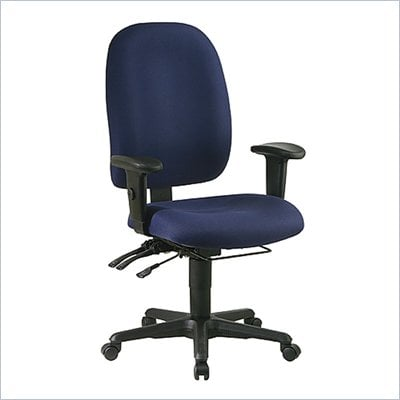Office Star Dual Function Ergonomic Office Chair with Seat Slider