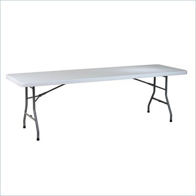 Office Star 8' Resin Rectangular Multi Purpose Table with Split Trestle Legs
