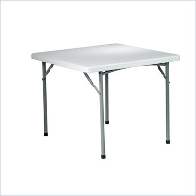 Office Star 36 in. Square Resin Table