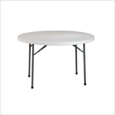 "Office Star 48"" Round Resin Multi Purpose Table with Traditional 4 Post Legs"