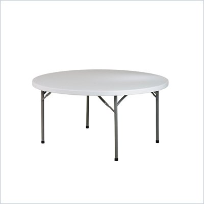 Office Star 60&quot; Round Resin Multi Purpose Table with Traditonal 4 Post Legs
