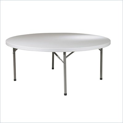 Office Star 71 in. Round Resin Multi Purpose Table