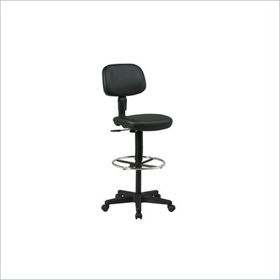 Office Star Sculptured Seat and Back Vinyl Drafting Chair