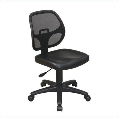 Office Star Mesh Screen Back Task Chair with Vinyl Seat