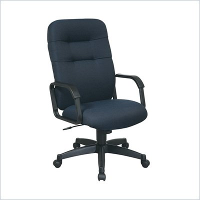 Office Star Executive High Back Managers Chair with Navy Fabric