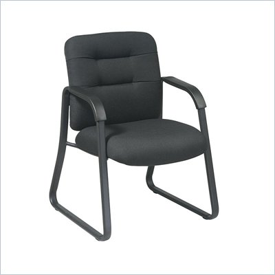 Office Star Distinctive Conference/Visitors Chair in Black Fabric