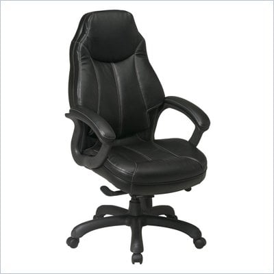 Office Star Deluxe Oversized Executive Faux Leather Chair