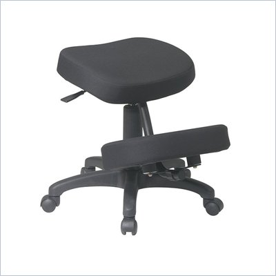 Office Star Ergonomic Knee Chair with Memory Foam in Black