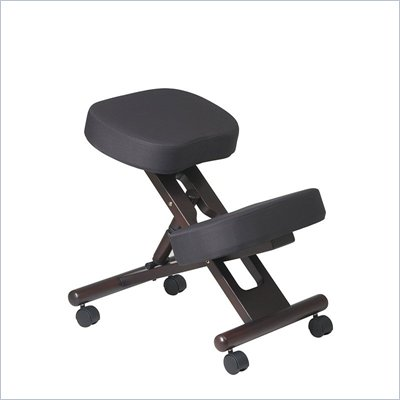 Office Star Ergonomic Wood Knee Chair with Memory Foam in  Espresso