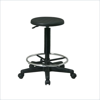 Office Star Self-Skinned Urethane Stool With Footrest