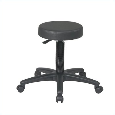 Office Star Pneumatic Drafting Chair Backless stool with Nylon Base